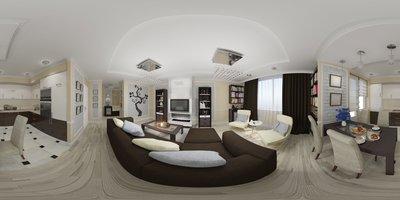 Virtuelle Besichtigung einer Immobilie