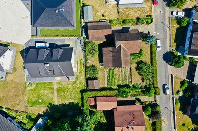 Häuser die Grenzen teilen